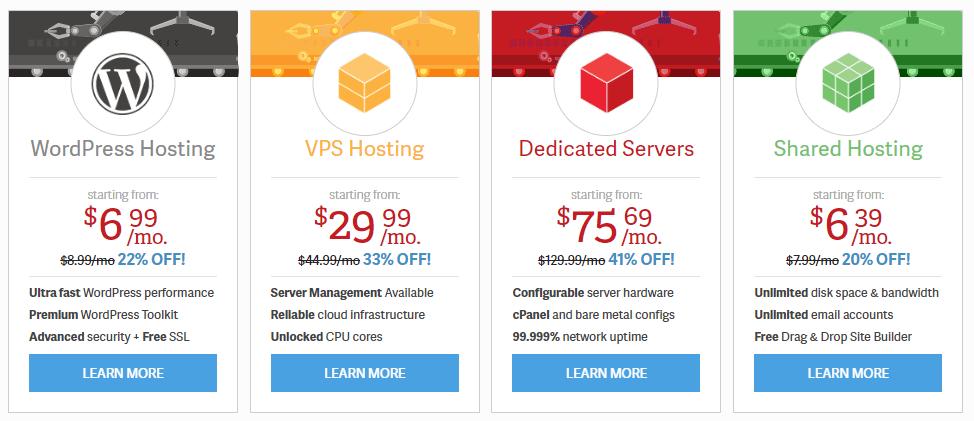 inmotionhosting web hosting prices