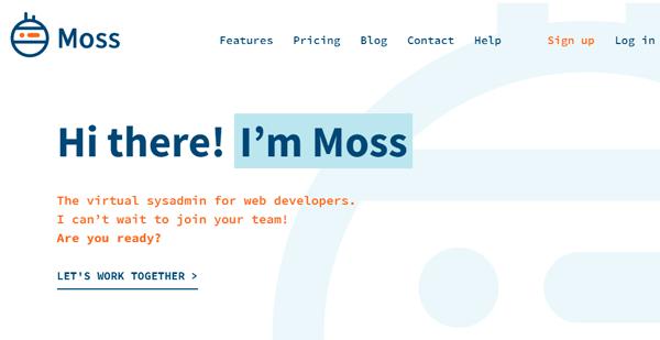 Moss.sh homepage